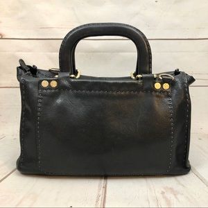 Ted Baker Hickory Stab Stitch Leather Satchel Tote